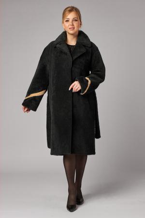 Меховое пальто из овчины кёрли