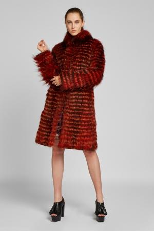 Двустороннее пальто  из лисы