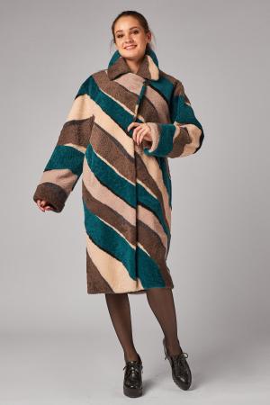 Меховое пальто из овчины керли